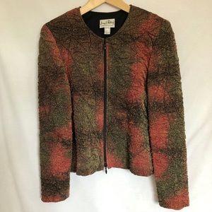 Joseph Ribkoff Vintage 80s Red, Brown, Gold Jacket